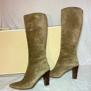 Taupe Suede Micheal Kors Boots & Original Box